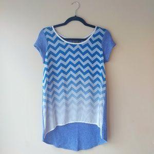 M♥M Ombre Chevron Knit Top